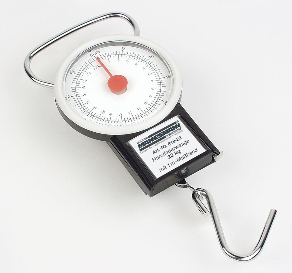 Vedrukaal 22kg+mõõdulint 1m